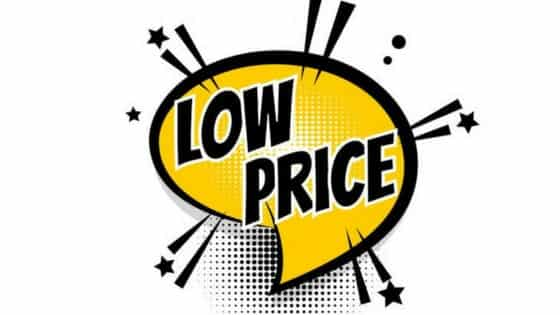 Everyday low pricing
