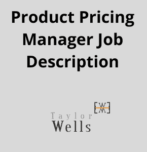 product pricing manager job description